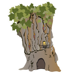 The house in a plane tree
