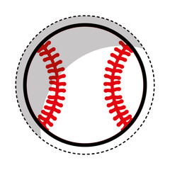 baseball ball isolated icon vector illustration design