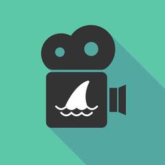 Long shadow cinema camera with a shark fin