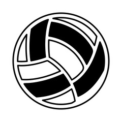 volleyball ballooon isolated icon vector illustration design