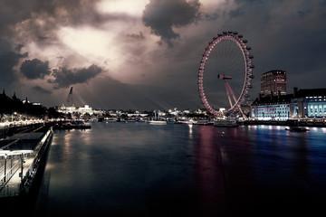 London sunset at Thames river near Big Ben Wall mural
