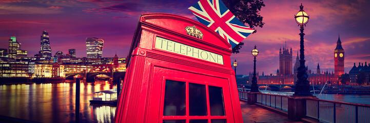 Keuken foto achterwand Londen London photomount with telephone box