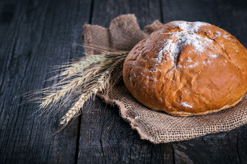 Freshly baked traditional bread