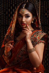 Beautiful indian girl in a traditional clothing