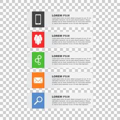 Flat vector illustration set infographics for business