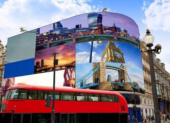 Piccadilly Circus London digital photomount
