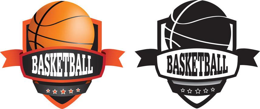 basketball logo or badge, shield or branding