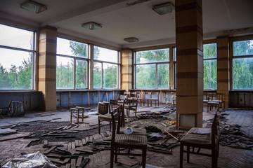 Abandoned canteen of Voronezh aluminum plant