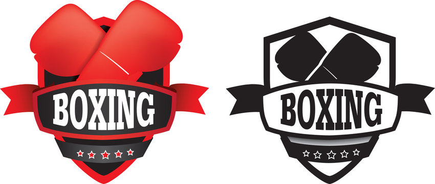 boxing logo or badge, shield or branding