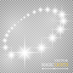 Vector abstract background. Colored stars in a circle with shadow. Eps 10. On a transparent background.