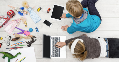 top view spoiled children modern generation header image