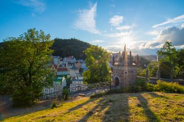 Panorama view of Karlovy Vary from U Tri Krizu Viewpoint