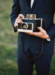 Man holding a camera