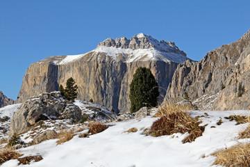 il Piz Ciavaces; gruppo del Sella, Dolomiti di Fassa