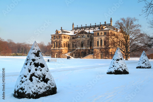 Garten Im Winter palais großer garten dresden im winter stock photo and royalty free