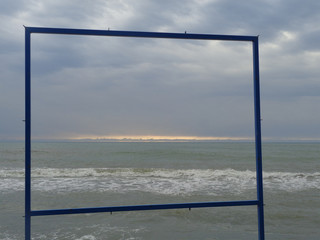 Sea picture in frame