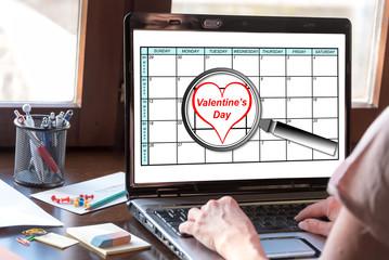 Valentines day on planner