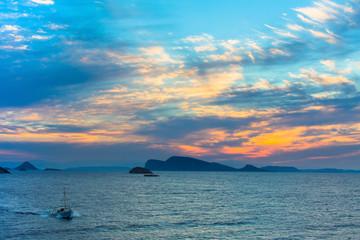 Beautiful sea sunset. Twilight.