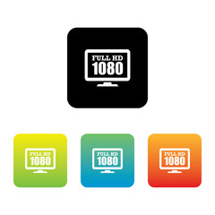 Colorful Set of Full HD 1080p Icons