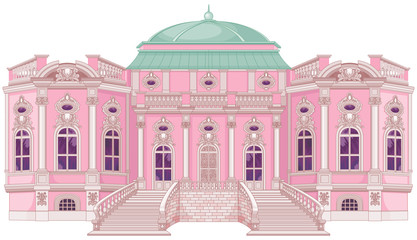 Canvas Prints Fairytale World Romantic Palace for a Princess