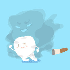 tooth away from smoking