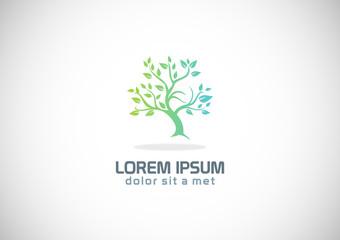 green tree nature logo