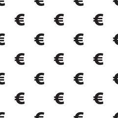 Seamless Euro currency pattern on white