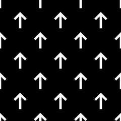 Seamless forward arrow pattern on black