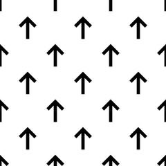 Seamless forward arrow pattern on white