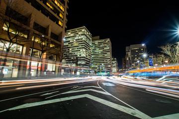 Center City at Night in Philadelphia, Pennsylvania