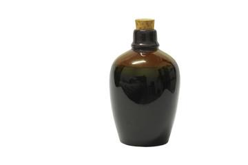 Sake bottle on a white background
