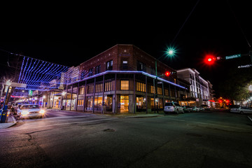 Historic Downtown Mobile, Alabama during an Evening Blue Hour