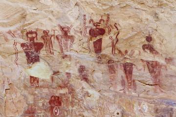 Barrier Canyon Style Petroglyphs at Sego Canyon, Utah