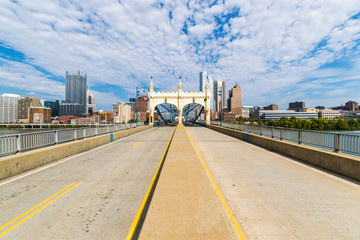 Liberty Bridge above the Monongahela River in Pittsburgh, Pennsy