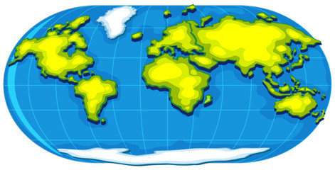 Geography poster with world map