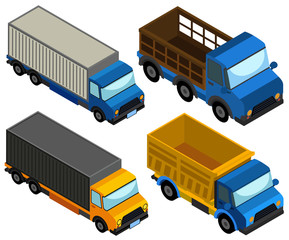 3D design for different types of truck
