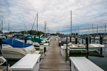 Warm Cloudy day in Havre De Grace, Maryland on the Board Walk