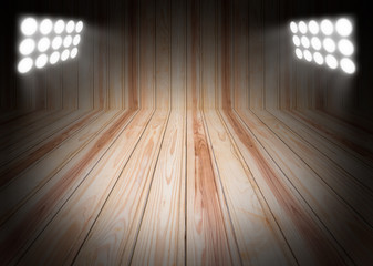 Wood texture backgrounds with spotlight