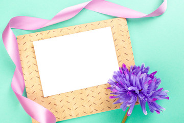 Blank card with ribbon