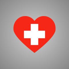 Switzerland flag heart