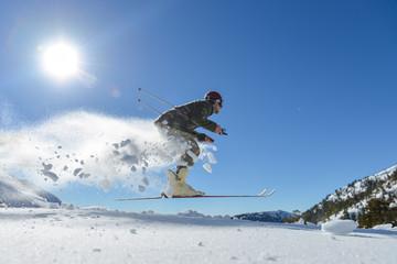 kayakçı adam & yaratıcı kayak konsepti