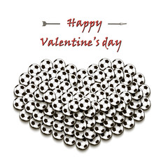 Valentines Day and Heart from soccer balls