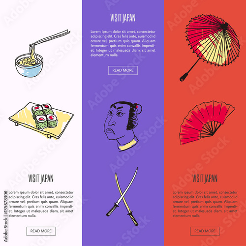 visit japan vertical web banners noodles with bamboo sticks
