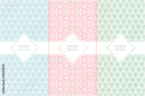 Set of packaging design templates with seamless patterns and frames set of packaging design templates with seamless patterns and frames suitable for cosmetics beauty colourmoves
