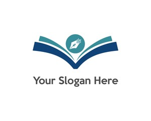 book and pen logo