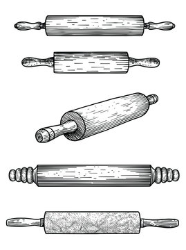 Rolling pin, marble, wood, silicone, patisserie