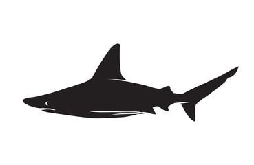 Shark vector silhouettes icon.