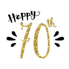 """""""HAPPY 70th BIRTHDAY"""" Card"""