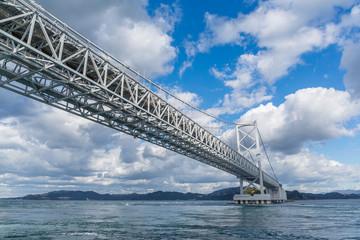 Naruto Bridge with sunny day