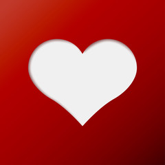 red heart valentine day icon. Vector illustration